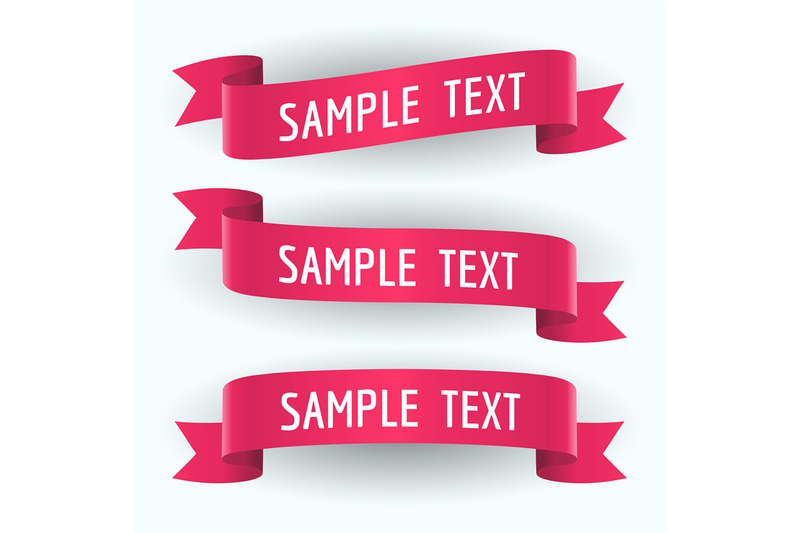 set-of-red-ribbons-and-text