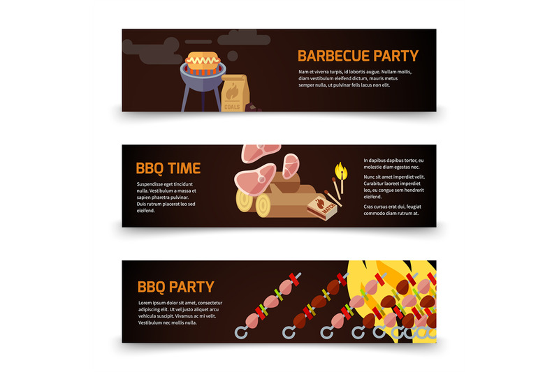 bbq-and-steak-horizontal-banners-template-meat-coal-firewood-and-ba