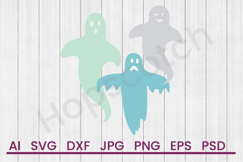 halloween-ghosts-svg-file-dxf-file