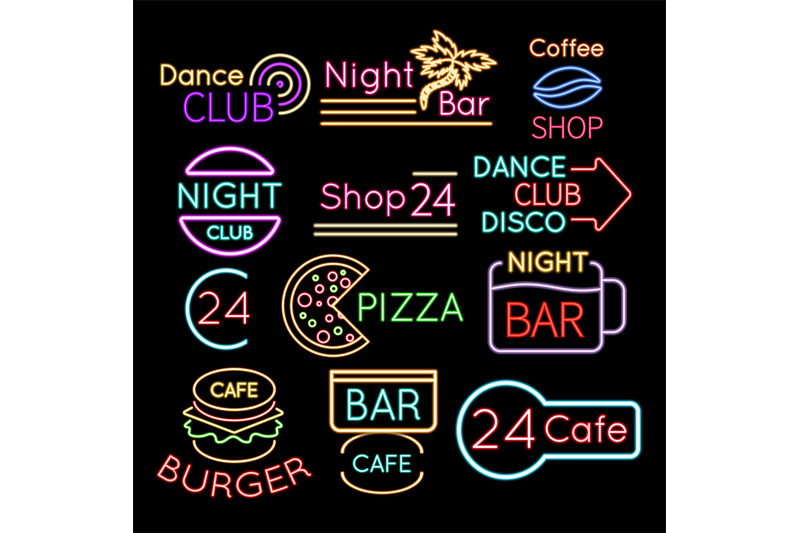 bar-dance-club-cafe-neon-signs-isolated-on-black-background