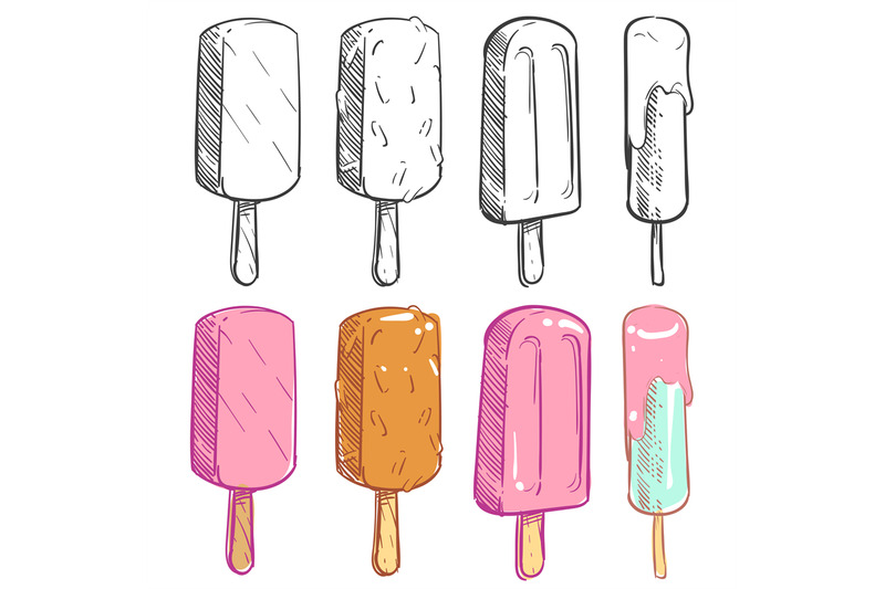 sketch-and-coloring-ice-cream-collection