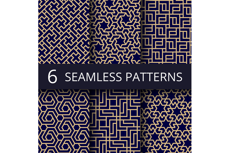 arabic-culture-seamless-vector-patterns-gold-asian-decoration-repeat