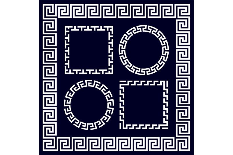 ancient-greek-round-and-rectangular-border-frames