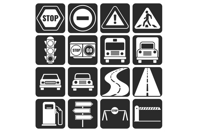 traffic-and-direction-vector-icons-set