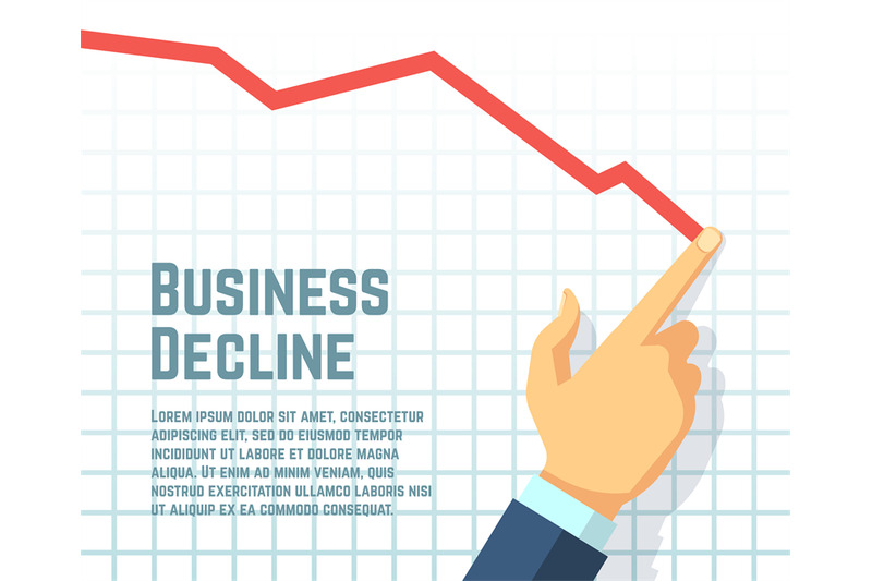 businessmans-hand-drawing-decrease-graph-profit-decline-and-downward