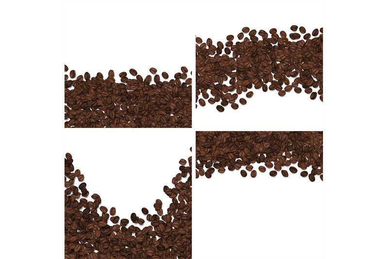 roasted-coffee-beans-isolated-on-white-background-vector-set