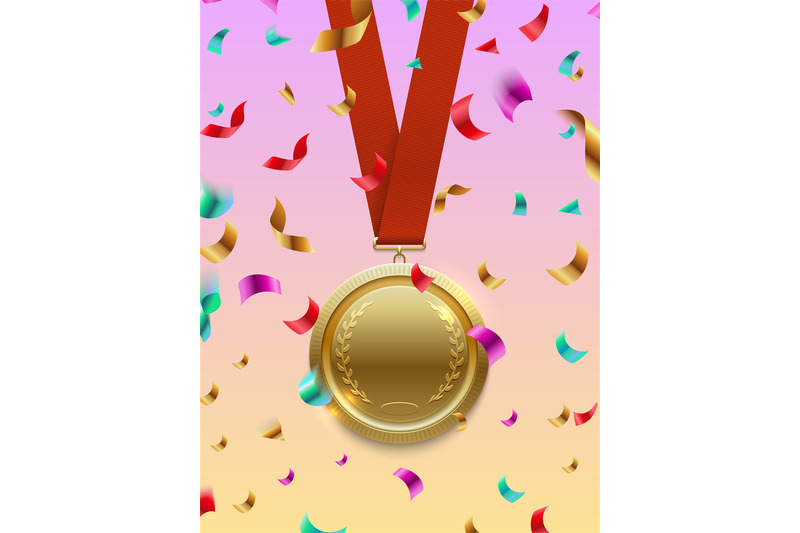 winner-concept-vector-gold-medal-on-red-ribbon-and-confetti