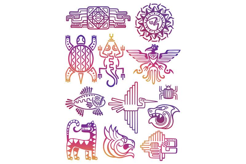 colorful-american-aztec-mayan-symbols