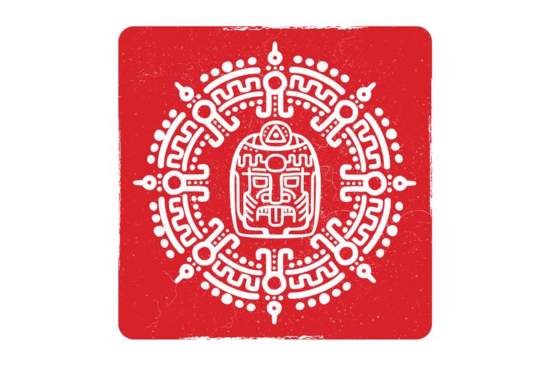 grunge-american-aztec-mayan-culture-symbol-design