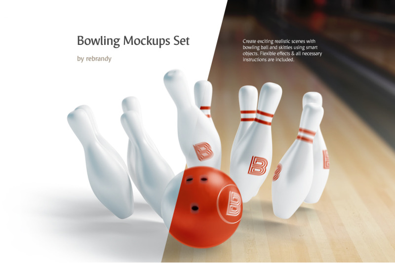 Free Bowling Mockups Set (PSD Mockups)