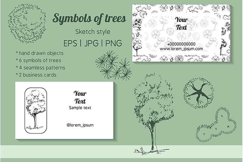 collection-with-seamless-patterns-of-symbols-of-trees