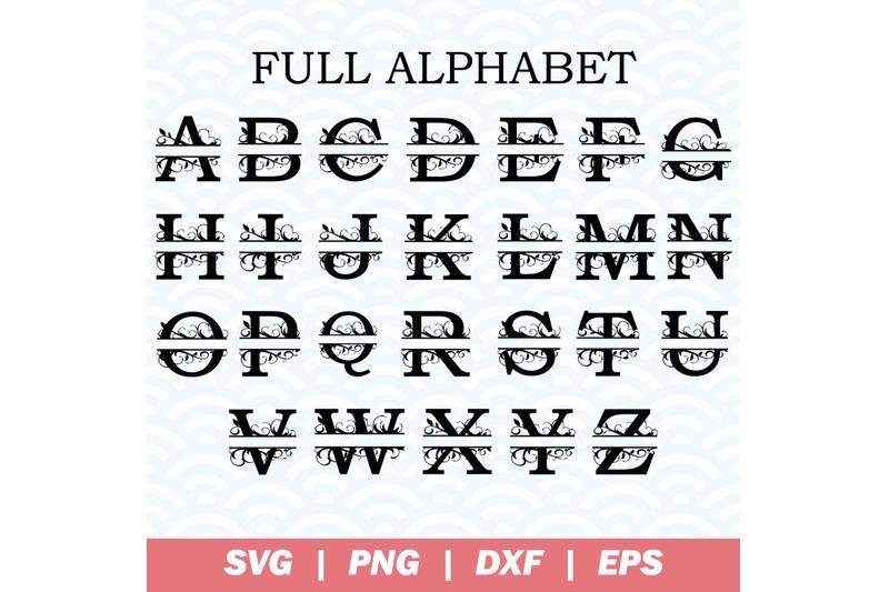 splitt-letters-full-alphabet-svg