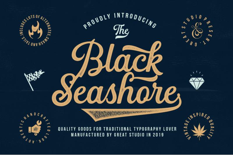 black-seashore-font