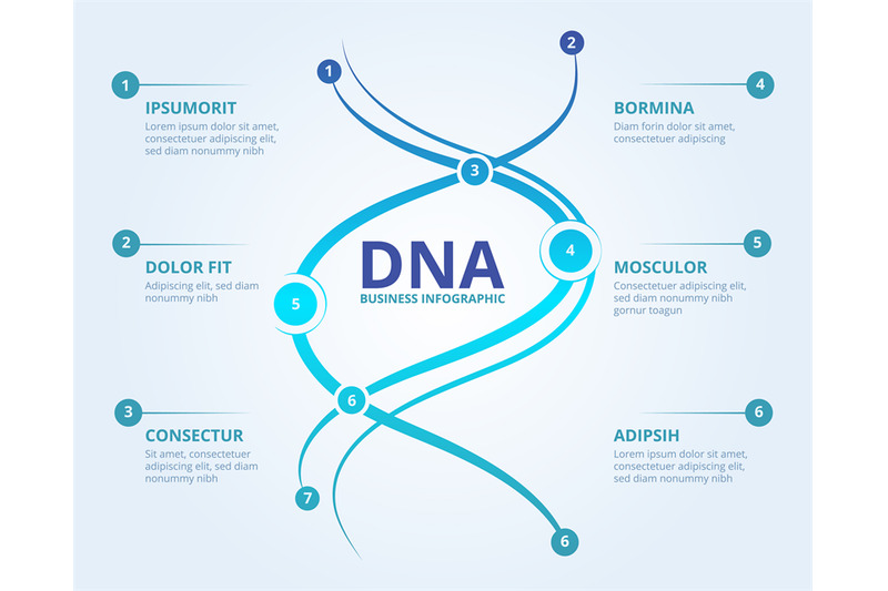 dna-infographics-spiral-human-biology-structure-vector-medical-scient