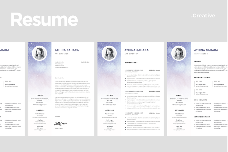 resume-template-match-with-cover-letter