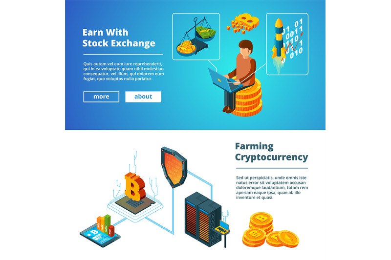 cryptocurrency-business-banners-global-ico-blockchain-crypto-digital