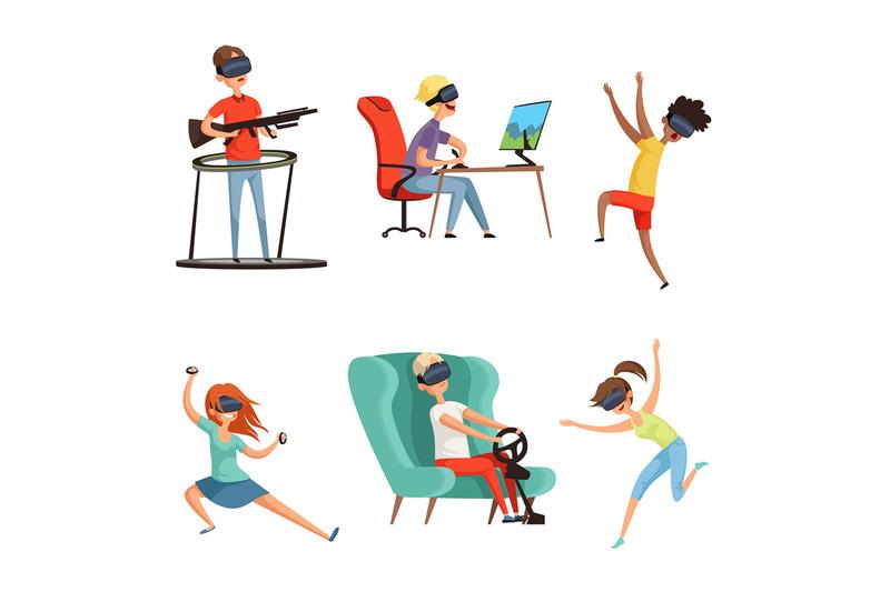 virtual-reality-characters-vr-helmet-funny-peoples-gaming-virtual-hea