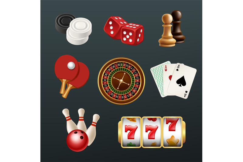 game-realistic-icons-poker-dice-bowling-gambling-domino-web-casino-sy