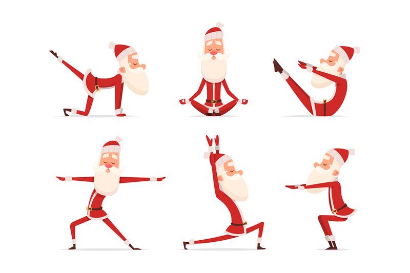santa-yoga-relax-winter-cute-healthy-christmas-holiday-santa-claus-ou