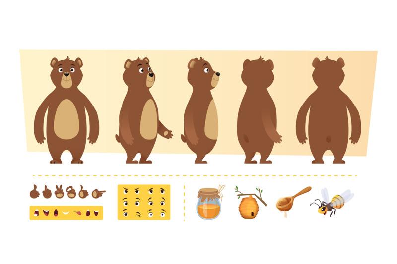 cartoon-bear-animation-cute-wild-animal-body-parts-and-nature-items-h