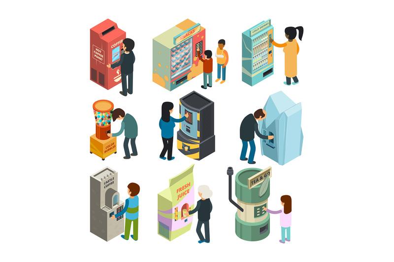 vending-machine-isometric-snack-sandwich-ice-cream-coffee-water-autom