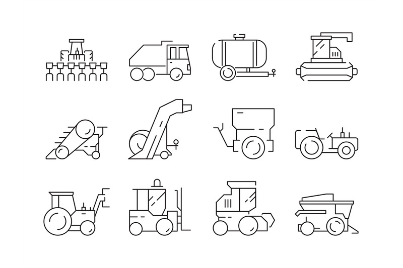 farm-vehicles-tractor-harvester-buldozer-village-heavy-machinery-cons