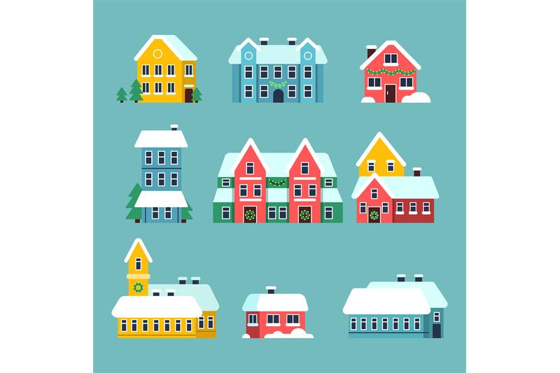 winter-houses-urban-xmas-holidays-snowy-city-snowflakes-on-the-house