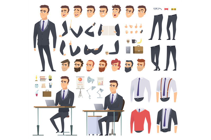 manager-creation-kit-businessman-office-person-arms-hands-clothes-and
