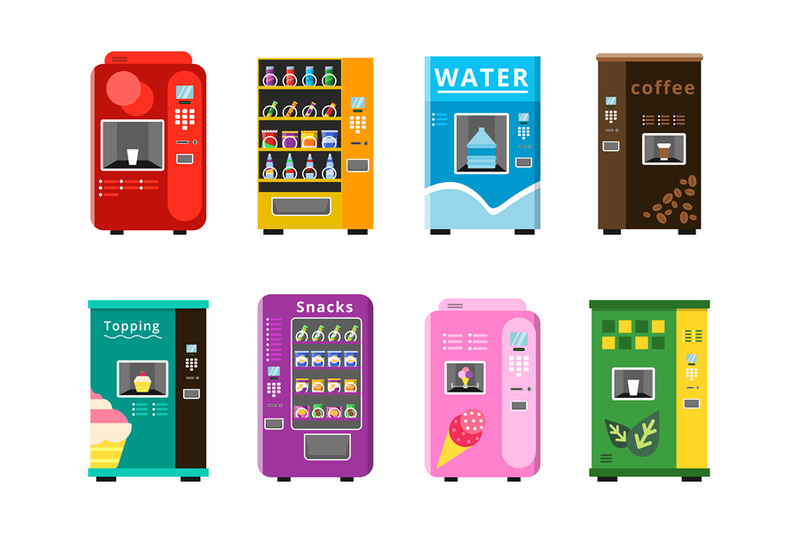 vending-machines-automatic-selling-foods-snacks-and-drinks-coffee-ice