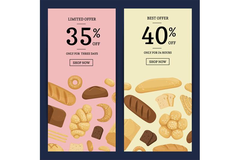 vector-cartoon-bakery-elements-web-banner-templates-illustration