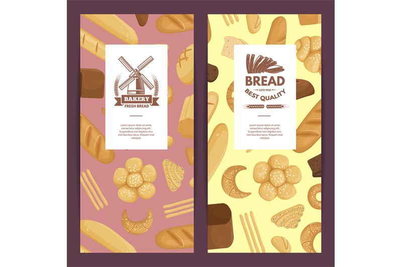 vector-cartoon-bakery-elements-flyer-templates-illustration