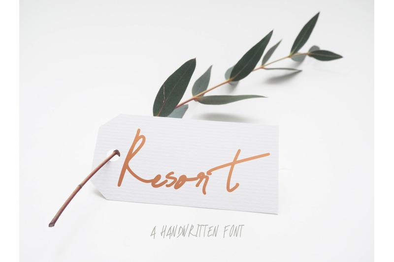 resort-font