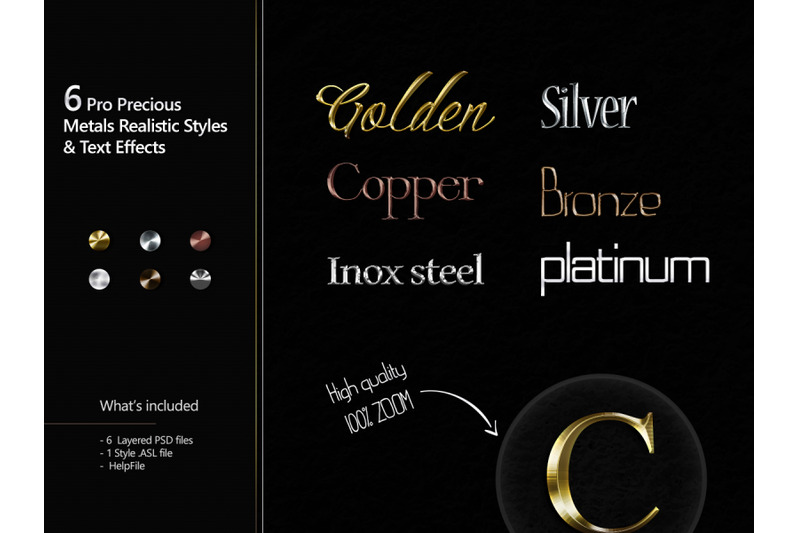 6-pro-precious-metals-realistic-styles-amp-text-effects