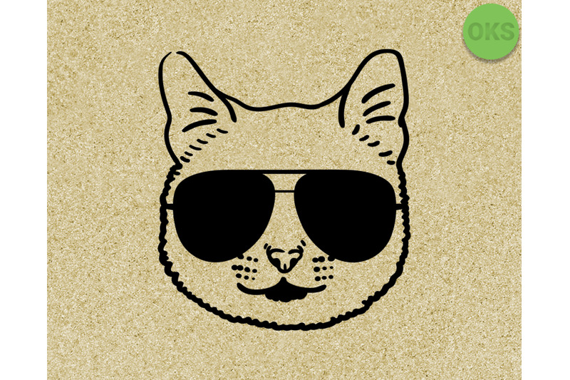 cat-with-sunglasses-svg-dxf-vector-eps-clipart-cricut-download