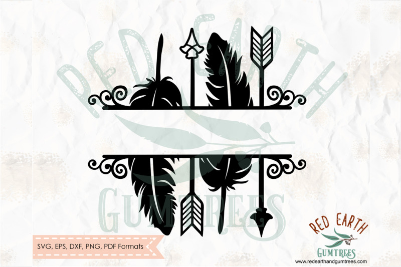 arrows-split-monogram-frame-svg-png-eps-dxf-pdf