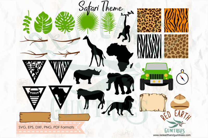 huge-safari-theme-bundle-animal-patterns-svg-png-eps-dxf-pdf