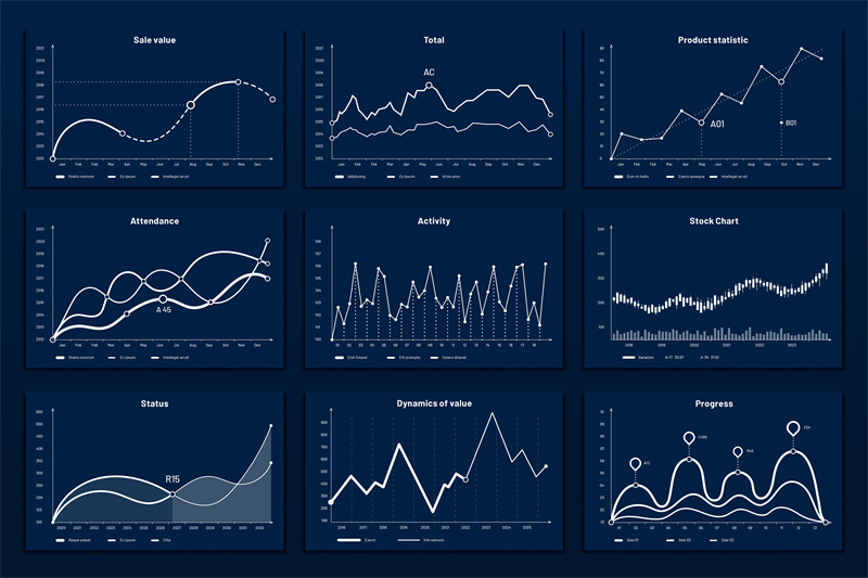 data-graphic-charts-maths-coordinates-graph-growth-chart-graphics-an