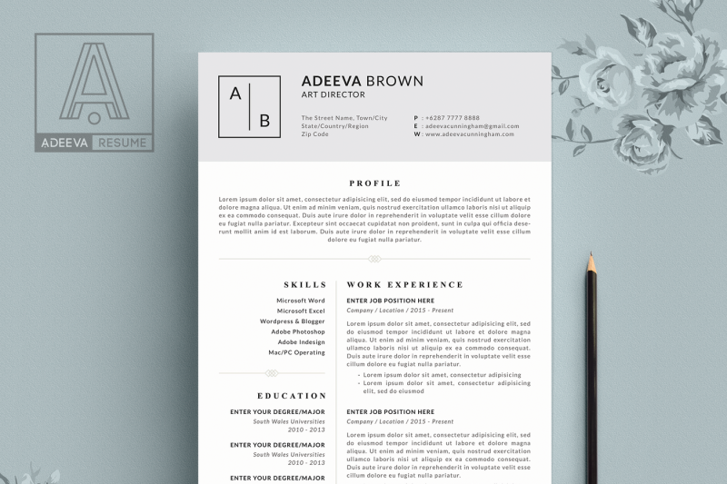 simple-resume-template-brown