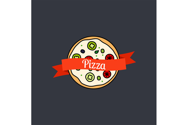 pizza-icon-with-text-on-ribbon
