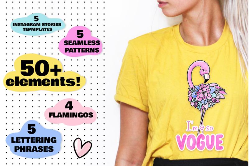 flamingos-summer-stickers