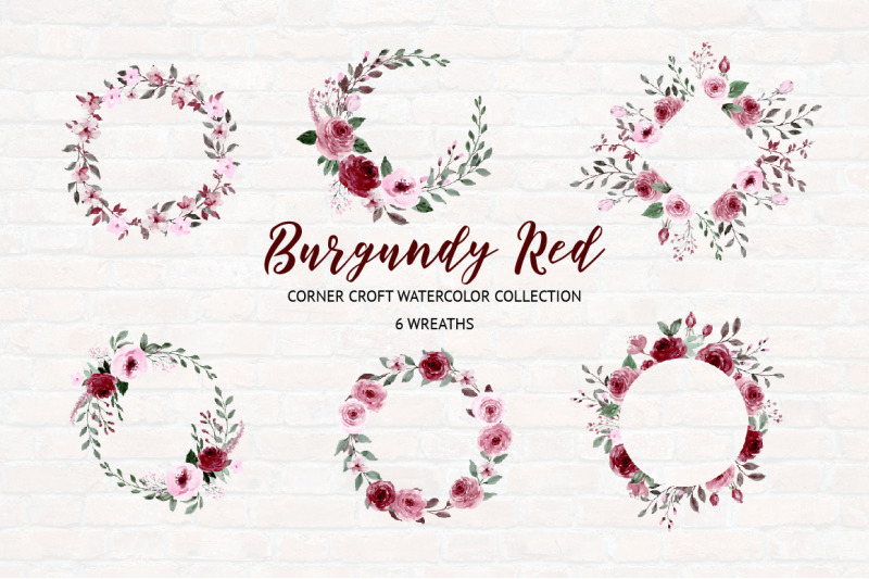 watercolor-collection-burgundy-red