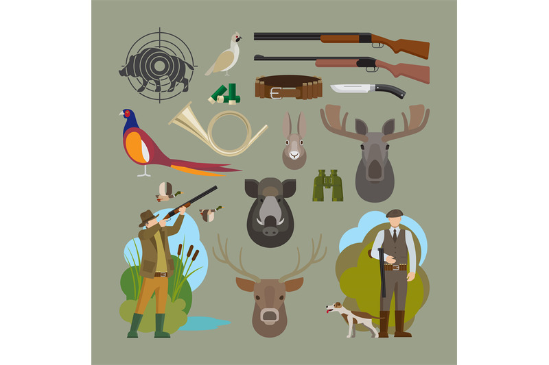hunting-vector-elements