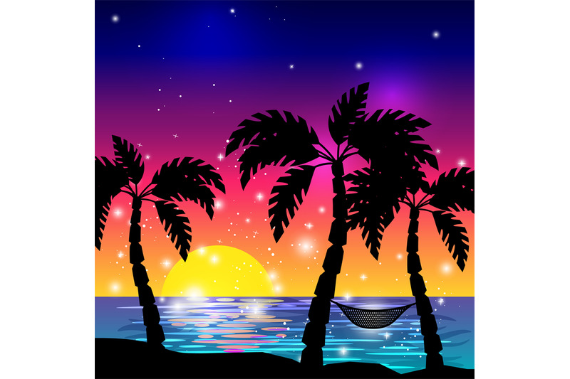 caribbean-sea-view-with-palm-trees