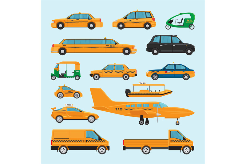 taxi-different-types-icons