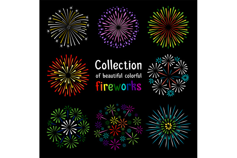 fireworks-collection-on-black-background