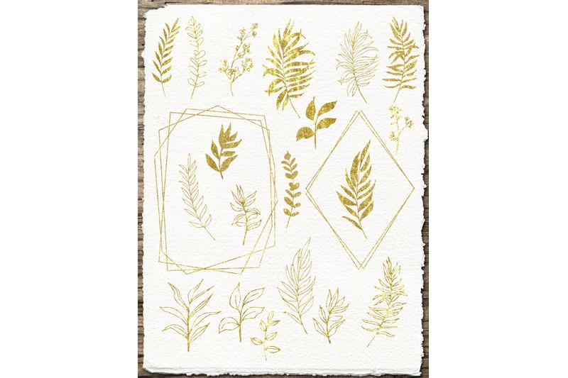tropic-leaves-amp-amp-flowers-watercolor-set