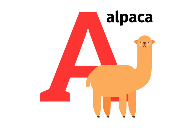 english-animals-zoo-alphabet-letter-a