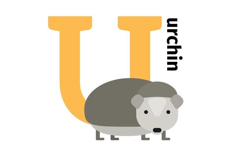english-animals-zoo-alphabet-letter-u