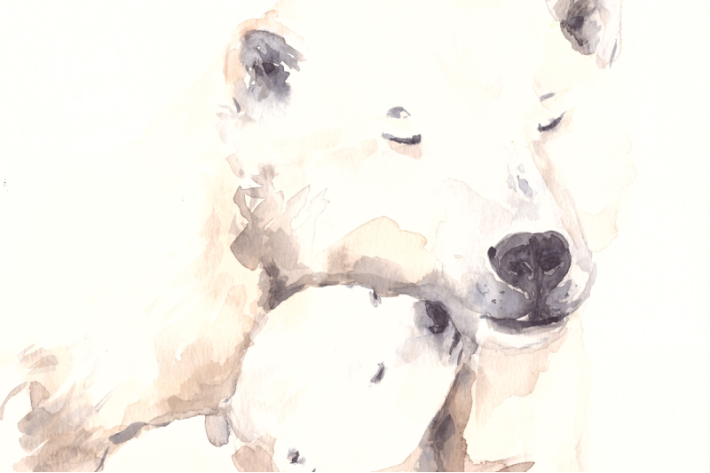 mother-and-baby-polar-bears-watercolor-print-and-clip-art