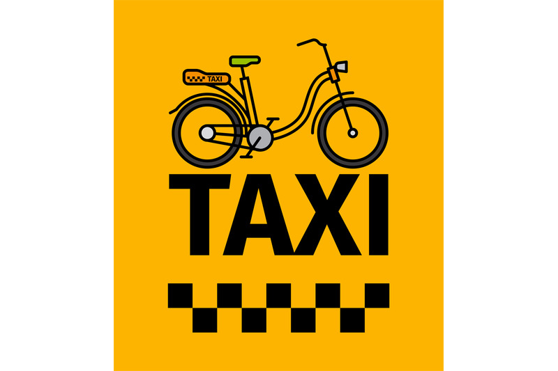 bicycle-taxi-transport-poster
